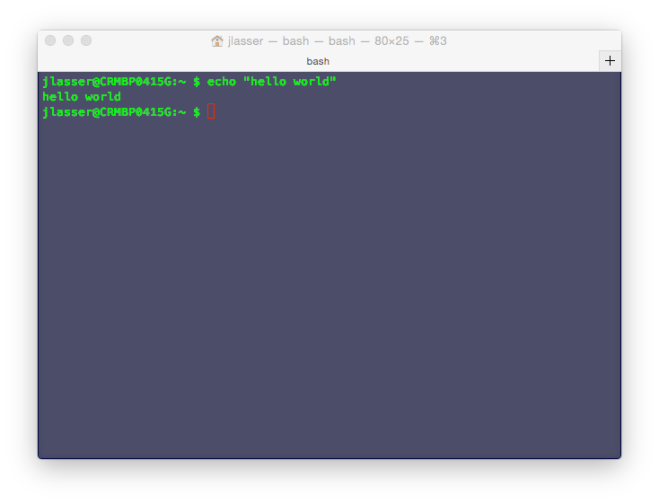 Hello World in the Unix shell, without color