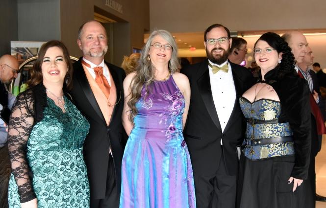 Rachael K Jones, Stephen Merlino, Julie Frost, me, and my wife Laura.
